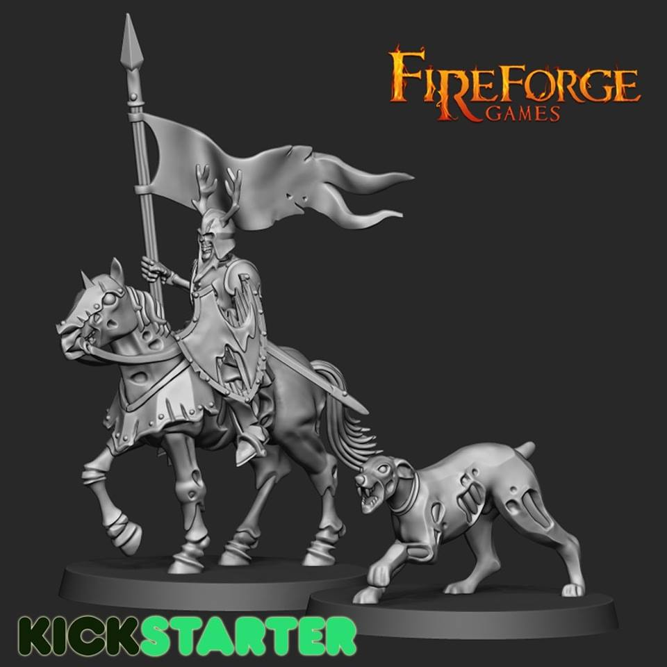 Living Dead Leader Mounted - FireForge Games