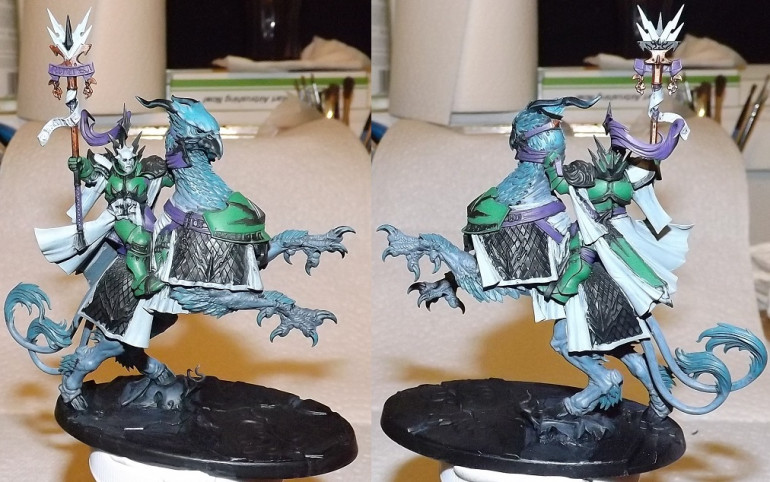Most of the cloth done, AFAIK, will work on the gold next.