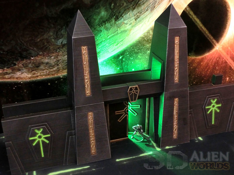 Necrontyr Tombcity Wall Set #1 - 3D Alien Worlds