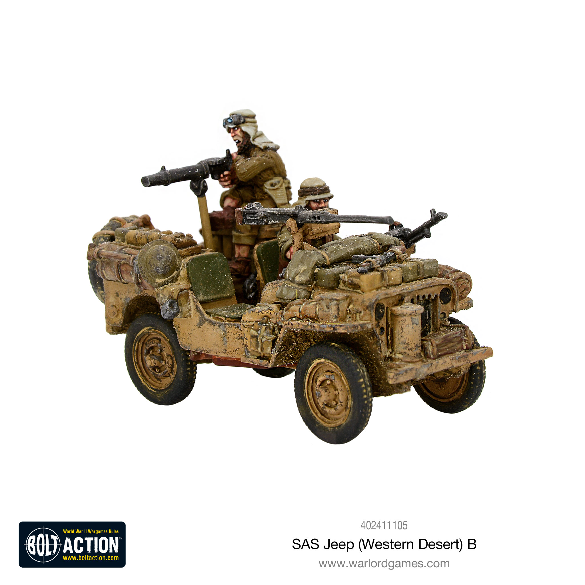 Warlord Hop Into SAS Jeeps & Rush Towards The Bolt Action