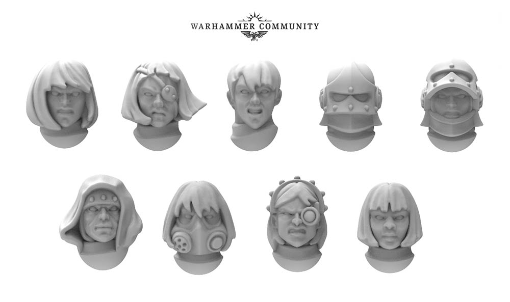 Sisters Of Battle Heads - Games Workshop