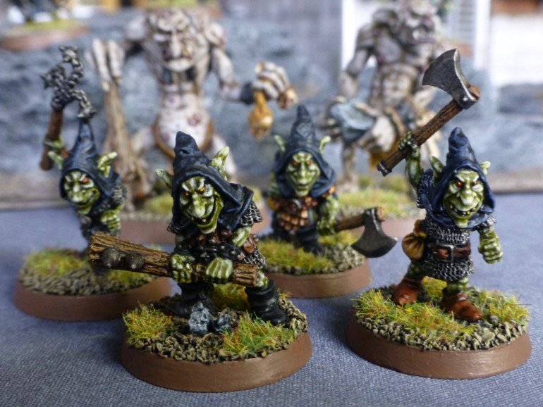Emboldened by their backup, the goblins charge ahead
