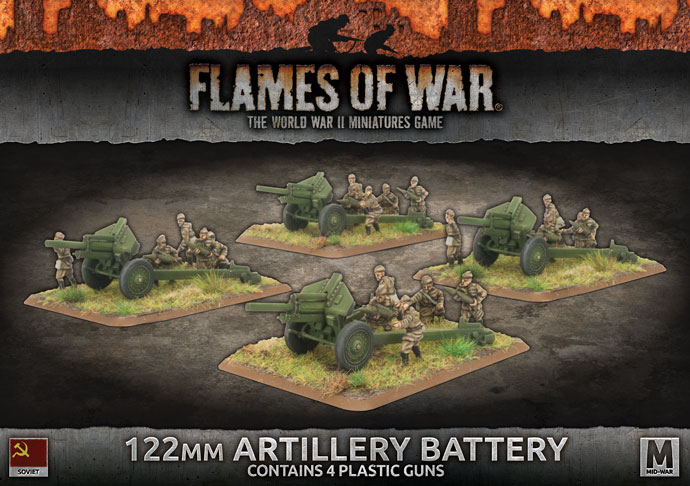 122mm Artillery Battery - Flames Of War