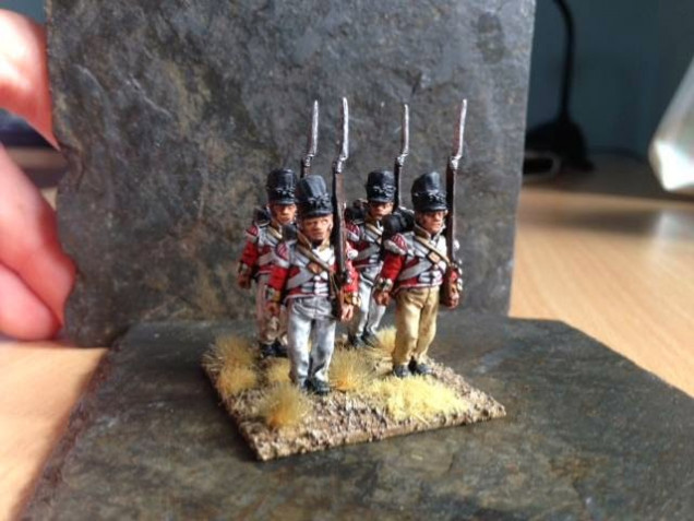 Test Stand of the 88th (the final figures will include some further highlights/revamped bases and be in pre-1812 'stove-pipe' shakos).