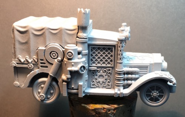 Nice, sharp details on the model. It should paint up nicely.