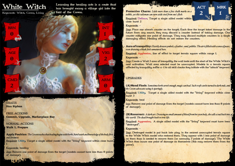 Rule card for the White Witch