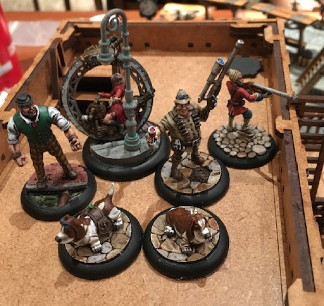 Lady Quimby brought her mechanic, Lugg, along to keep the monocycle at peak performance While Zachary was accompanied by his faithful friend Singh. I was looking forward to having those re-rolls for Zachary as long as Singh also has line of sight.