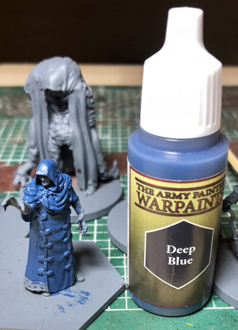 First up, the cloak is given an Army Painter Deep Blue