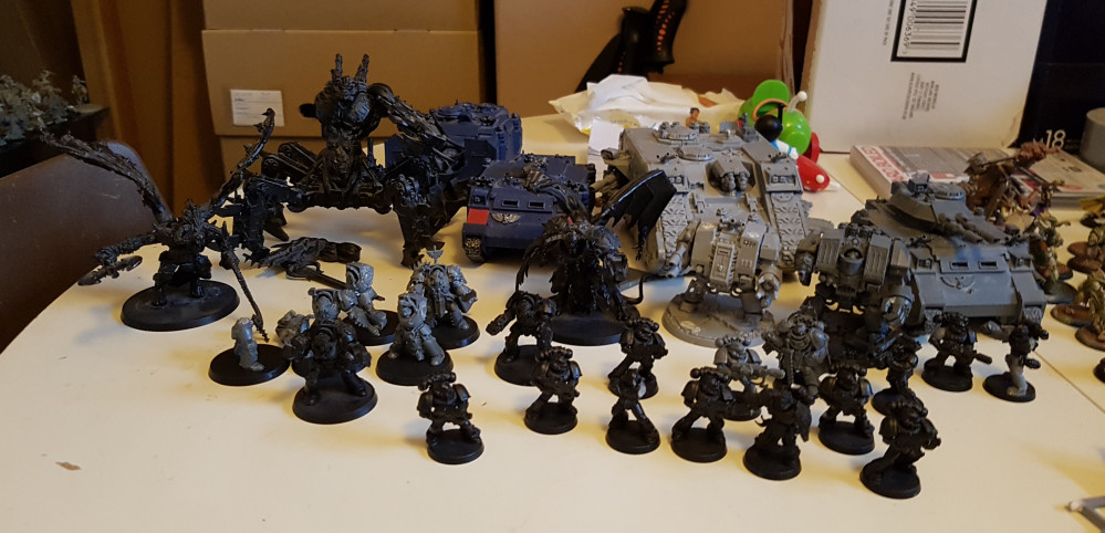 40k Space Wolves & Daemons Boot Sale Bargain – Help Lawnor identify and fix please