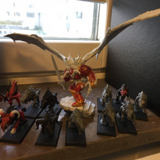 Here are some of the miniatures that will be converted into this Krampus Army.