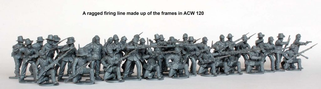 American Civil War Union Infantry Firing Line - Perry Miniatures