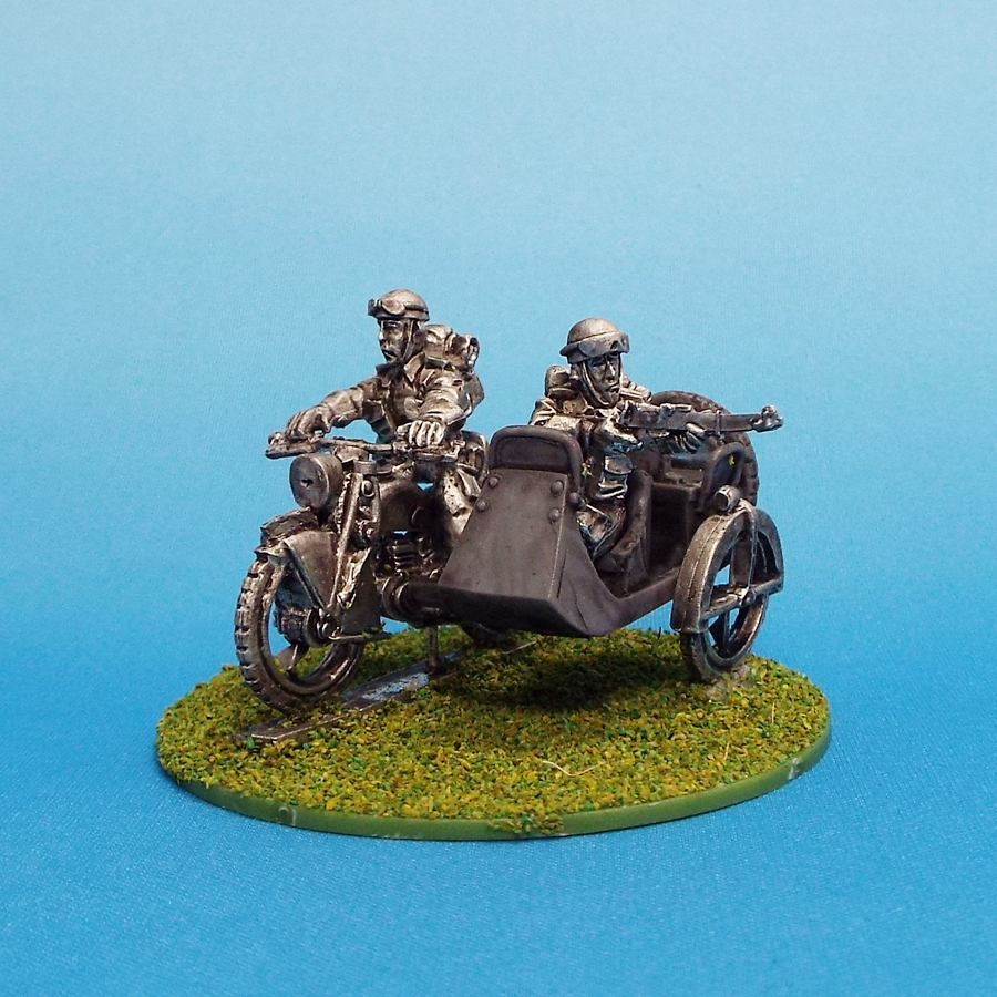 British Recon Motorcycle With Sidecar Rifle - 1st Corps