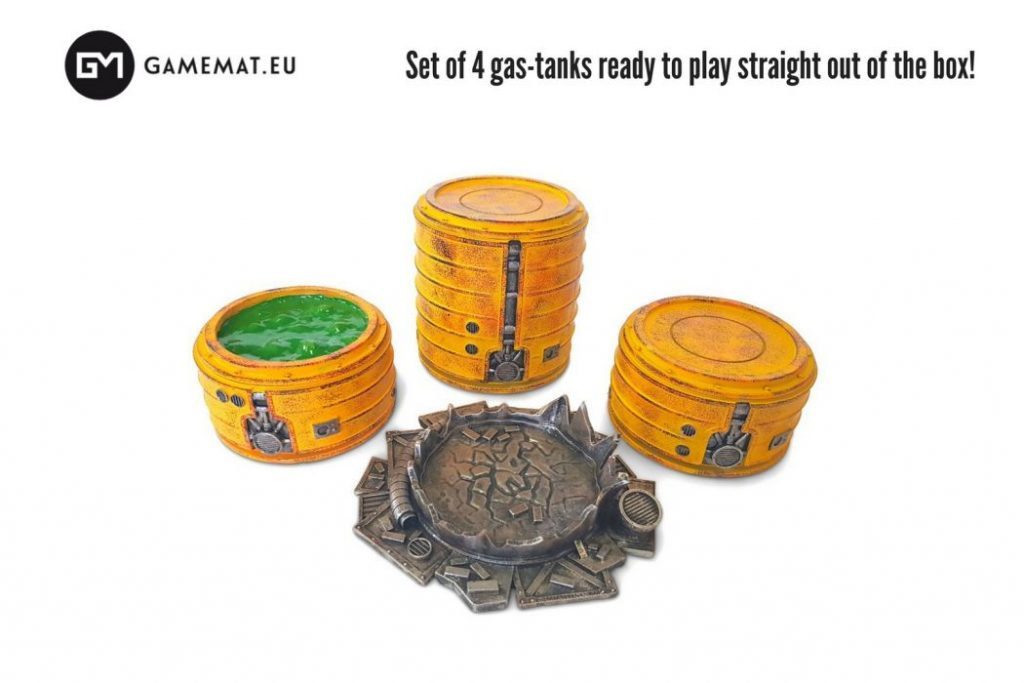 Chem-Zone Gas Tanks Set - GameMatEu