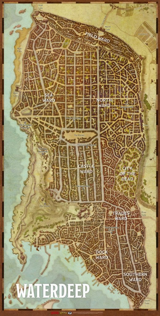 D&D Waterdeep City Map - Gale Force Nine