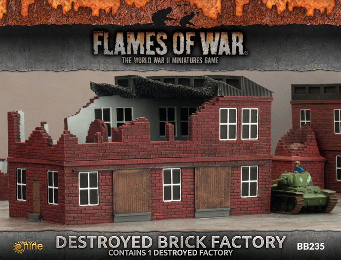 Destroyed Brick Factory - Flames Of war