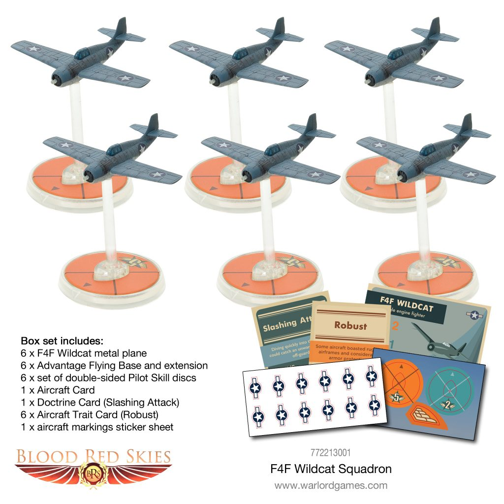 F4F Wildcat Squadron (Models) - Blood Red Skies
