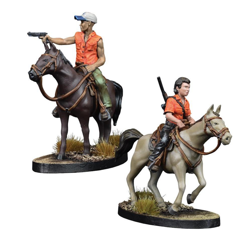 Maggie & Glen On Horseback - Mantic Games