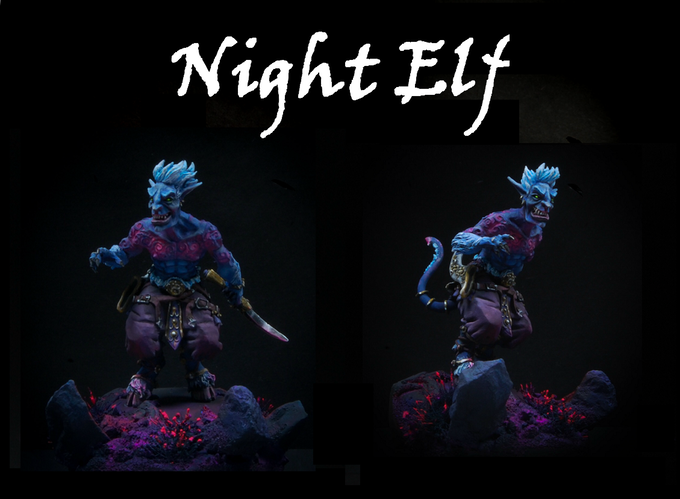 Night Elf - Ouroboros Miniatures