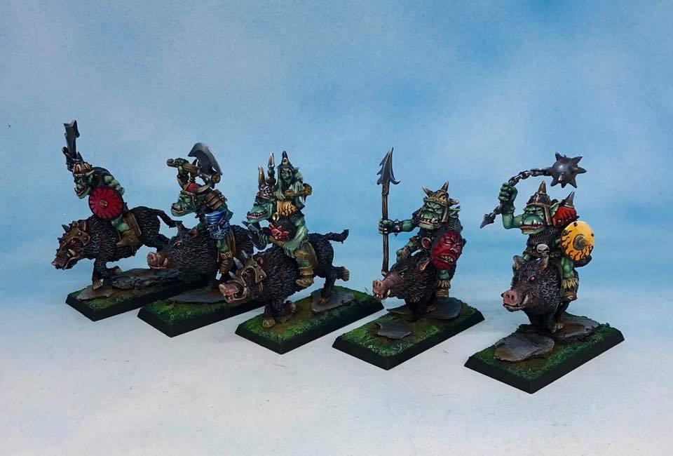 Orc Boar Riders by tanath