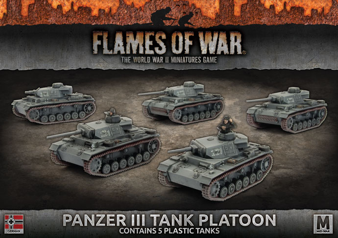 Panzer III Platoon - Flames Of War