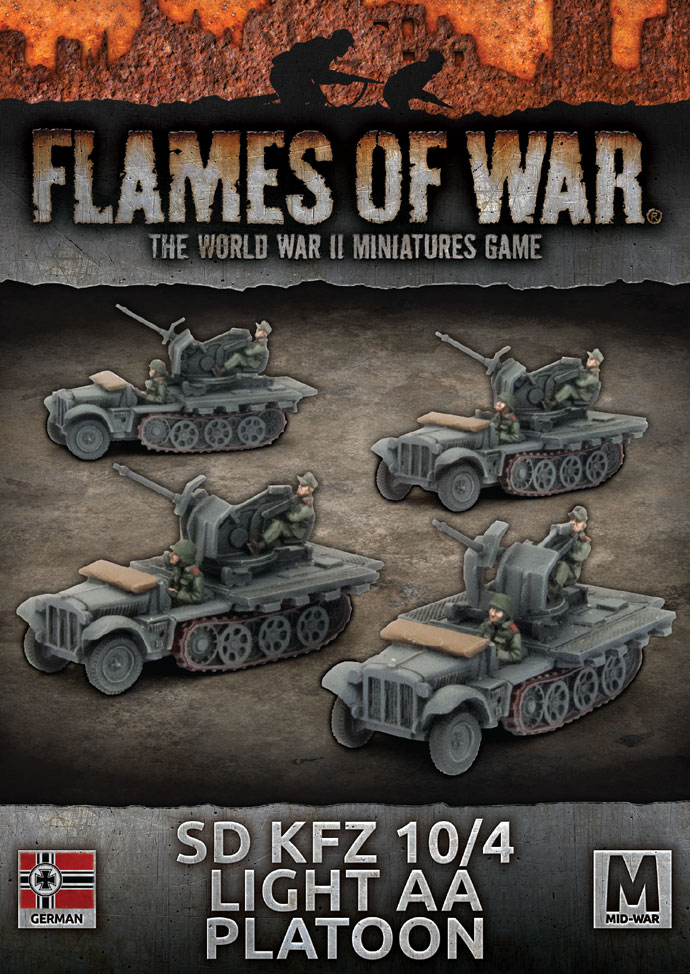 Sd Kfz 104 Light AA Platoon - Flames Of War