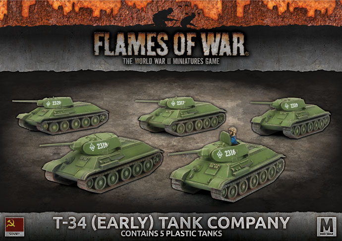 T-34 (Early) Tank Company - Flames Of War