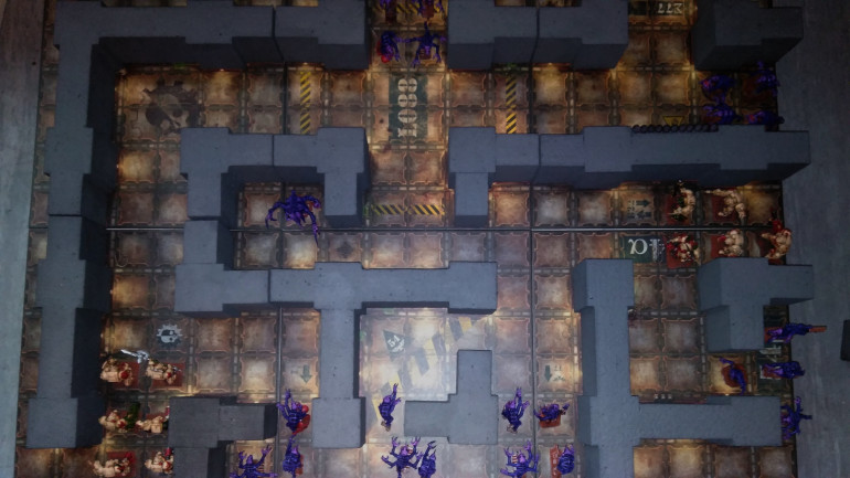 so I was thinking, using the Necromunda Tiles, to play Space Hulk. well the board makes it possible to play and move by the Rules, accepted one problem, I hate, more than everything, kill and survive mission. you just stand there with your terminators on overwatch, and whait for the horde to arrive, and then it gets so tedious just rolling the dice and feeding the canon. on the other hand am I so useless in implementing some clever mission objektive that just works on a random map. so if anybody have some idea how to implement something, please let me know.