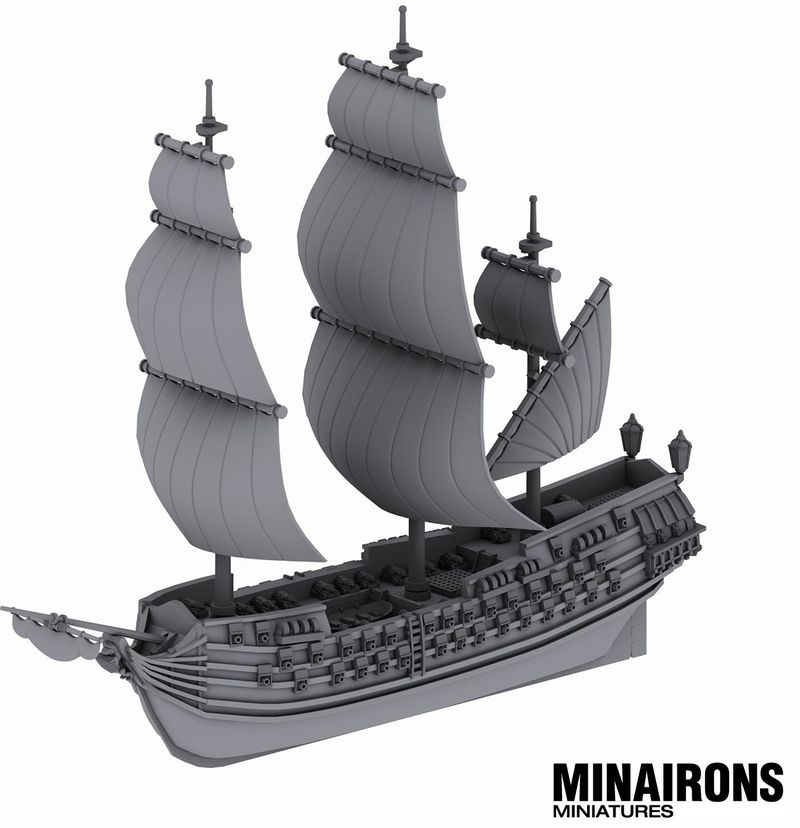 1600 Scale Ship Of The Line #1 - Minairon Miniatures