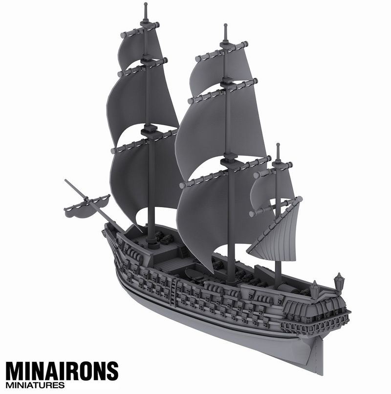 1600 Scale Ship Of The Line #2 - Minairon Miniatures