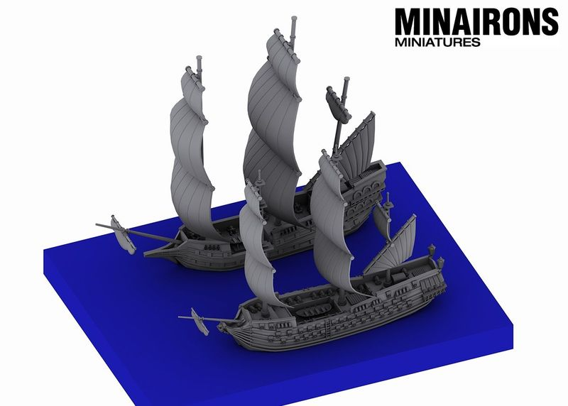 1600 Scale Ship Of The Line - Minairon Miniatures