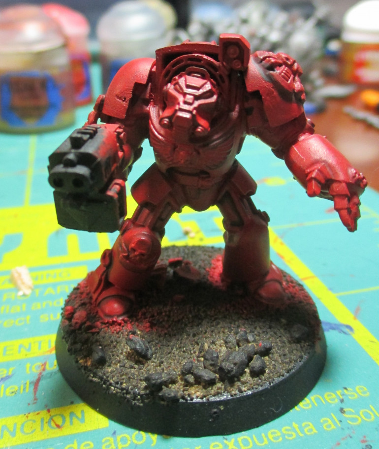 How the terminator looks after a nice wash of Agrax Earthshade.