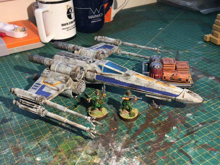 I went with Blue 3 as they were based at Yavin until their unfortunate demise at the battle of Scarif