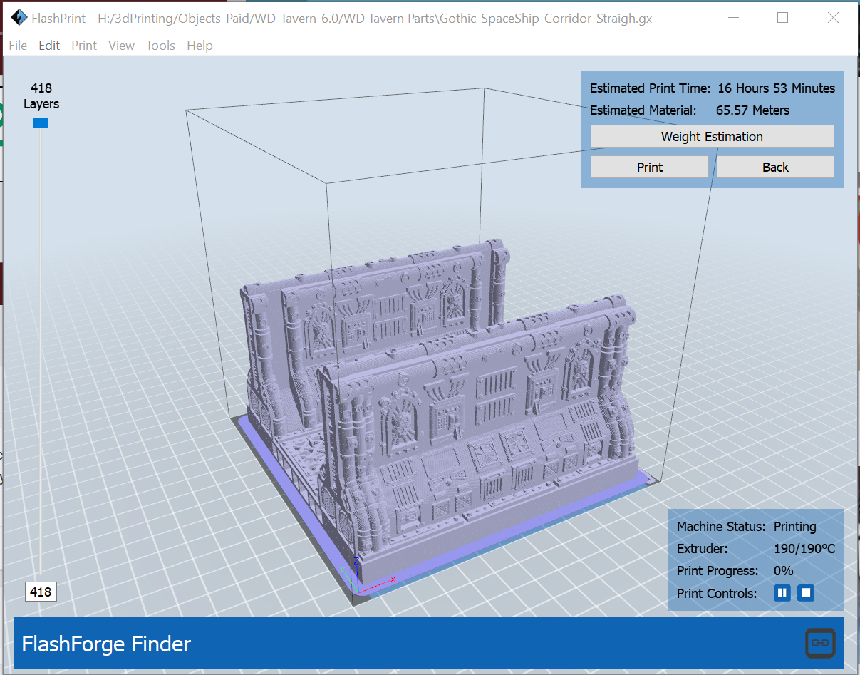 First Print 3×3 Corridor section at 140% – OnTableTop – Home of