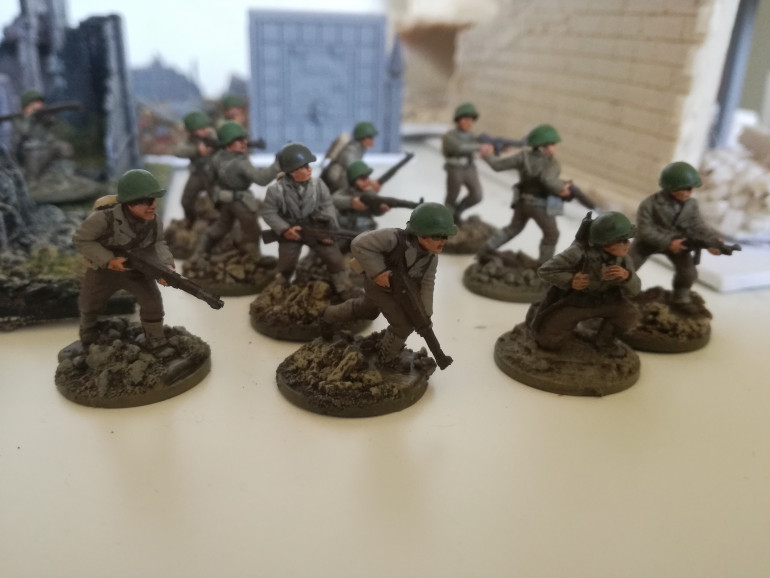 Some finished US infantry (20mm)