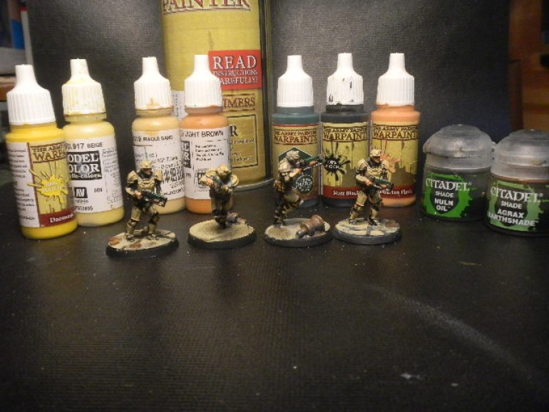 i pick a black and tan scheme for my grunts