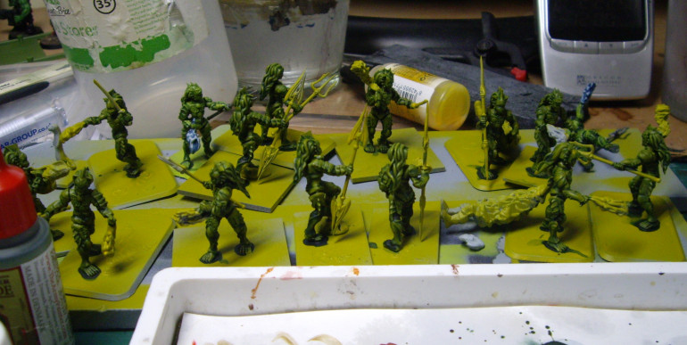 Added a Generous amount of Army Painter Green Tone.