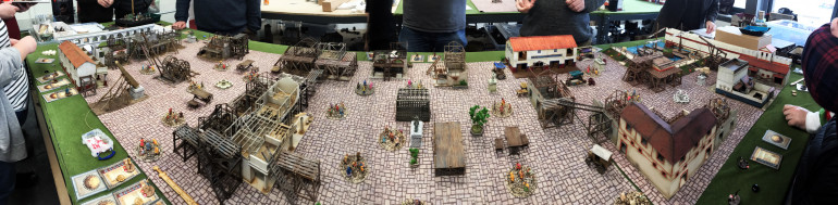 The final game on a huge table