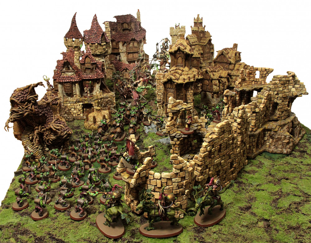 Orks and Goblins vs Wizards and Gnomes AOS conversion project