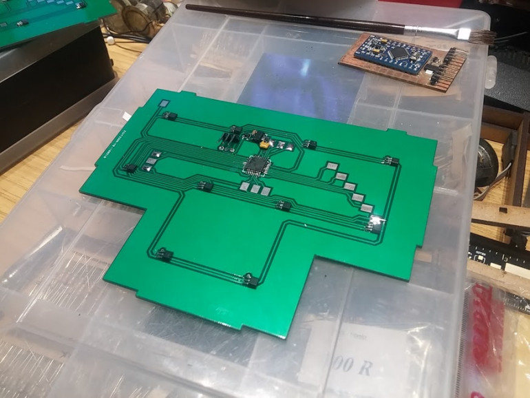 Buying 2ft x 2ft PCBs would be *very* expensive! Time to make some...