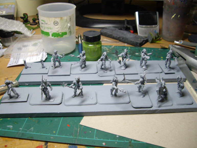Undercoat sprayed a single file to get a good undercoat.   Use ( Wilko UK) spray can primer