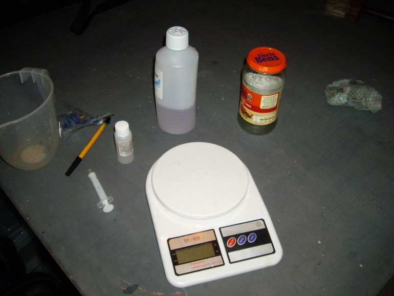 Cheap Resin from ebay, In the garage because it is messy.