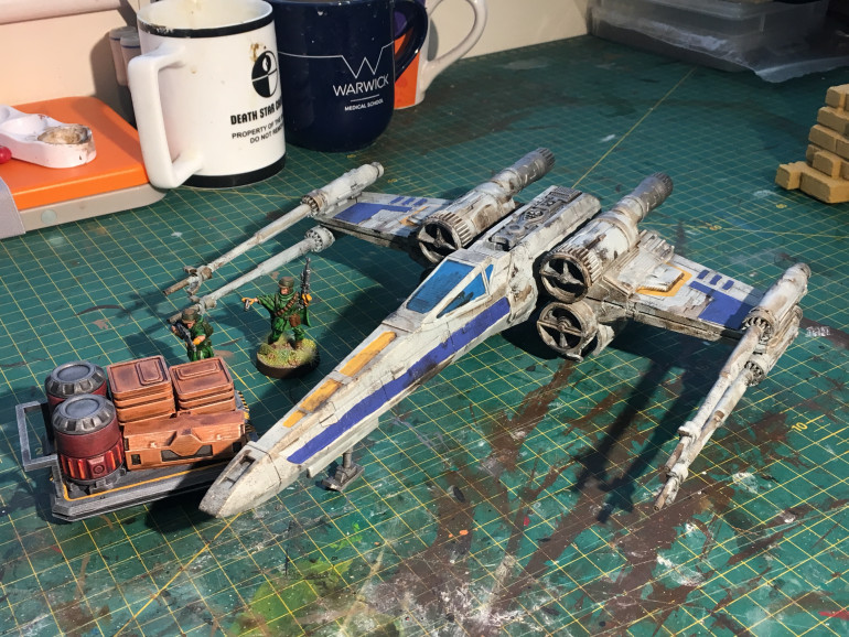 The X-Wing got all painted up!