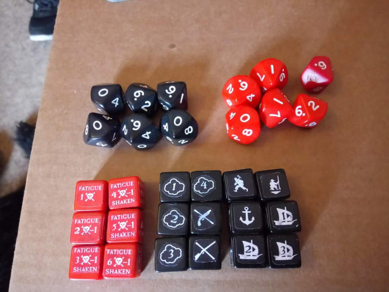 Dice tokens and D10s