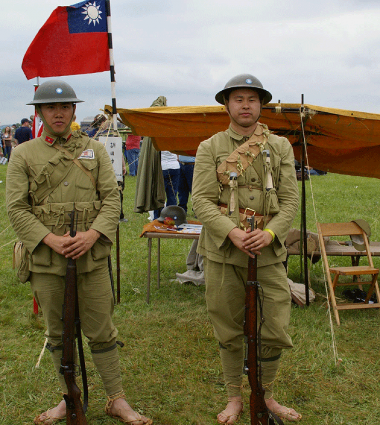Chinese Nationalists army re enactors