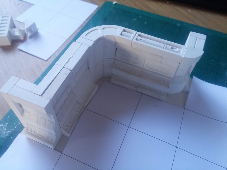 Hirst Arts moulds are great for creating terrain to fit on 1