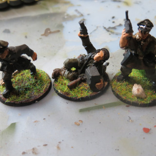 Here is the Panzerschrck Team and my HQ unit consisting out of an Leutnant, Oberleutnant and a Hauptman