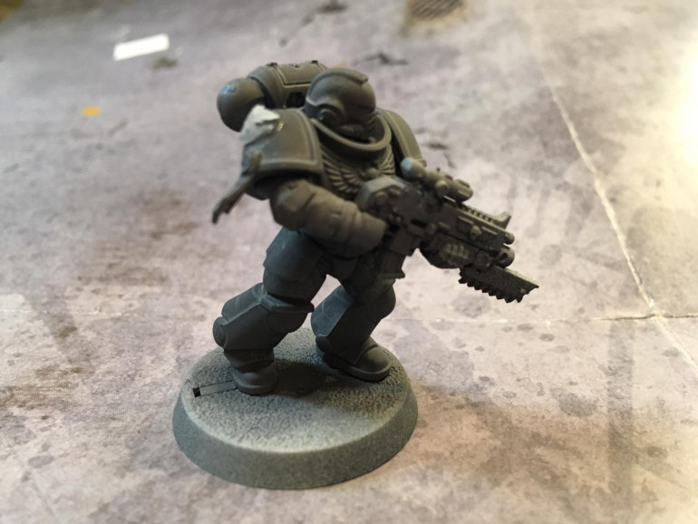 Although, technically, the Carcharodons may not even be on the list to be reinforced with Primaris Marines, I'm told they will eventually be given the ability to make their own. Maybe Belisarius Caul is aware of them out there in the Dark...
