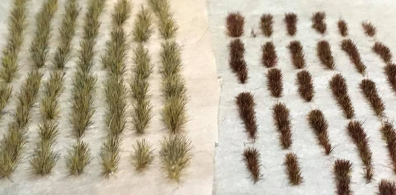 Using homemade tufts for weeds