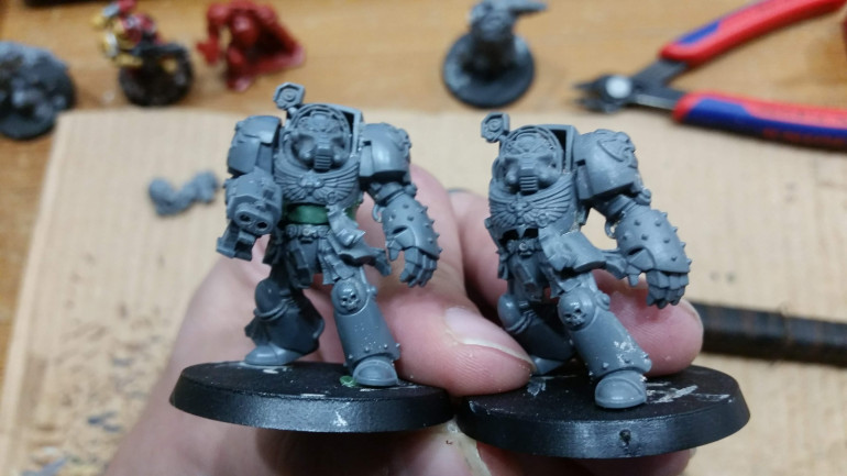My scaled up test Terminator next to an identical Terminator.
