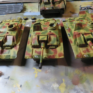 Work in progress. The StuGs 131, 132 and 133 are on their way